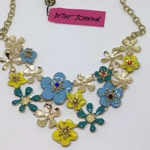 Betsey Johnson multi color flower necklace